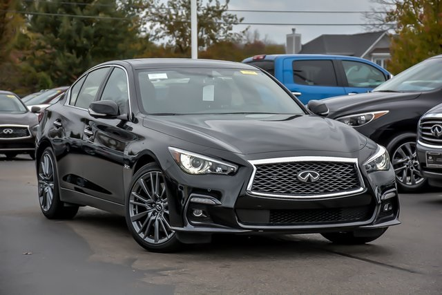 New 2019 Infiniti Q50 Red Sport 400 Awd Sedan In Clarendon Hills C190433 Of